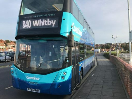 840 to Whitby: The bus.