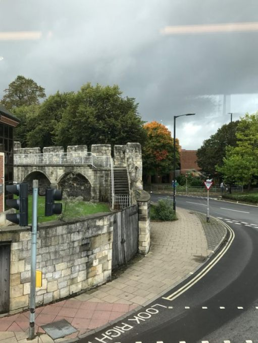 840 to Whitby: York. City wall.