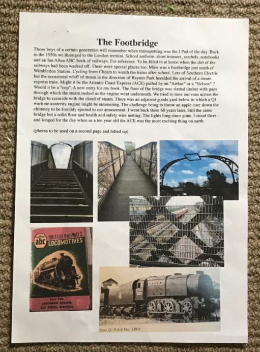 The Footbridge: The original story in all its glory.