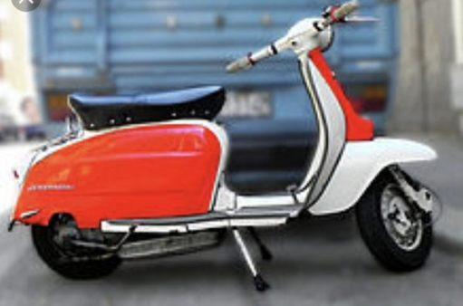 The Footbridge: A Lambretta, imported from Italy via the Milk Dock.