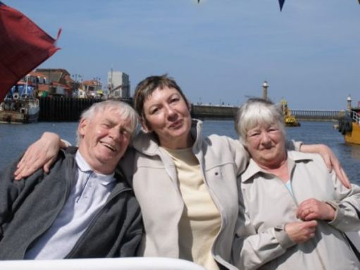 Diddley loved Uncle Dennis seen here on a boat at Whitby 2008.