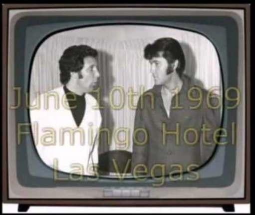 TV Screen. June 10th 1969. Flamingo Hotel, Las Vegas.