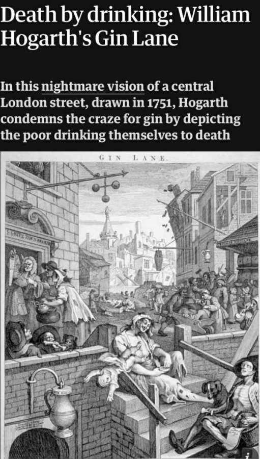 Happy New Year - Death by Drinking: William Hogarth's Gin Lane.