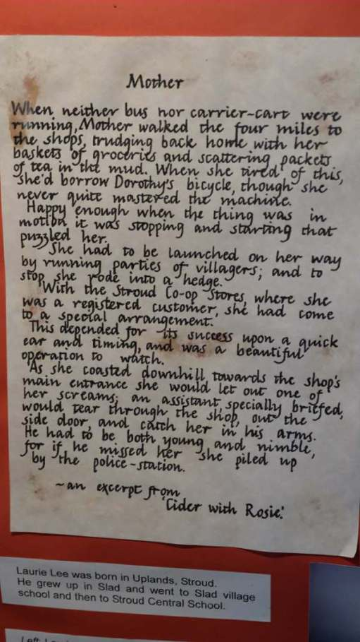 Cotswold Reverie: On the notice board of the church: an extract from Cider with Rosie.