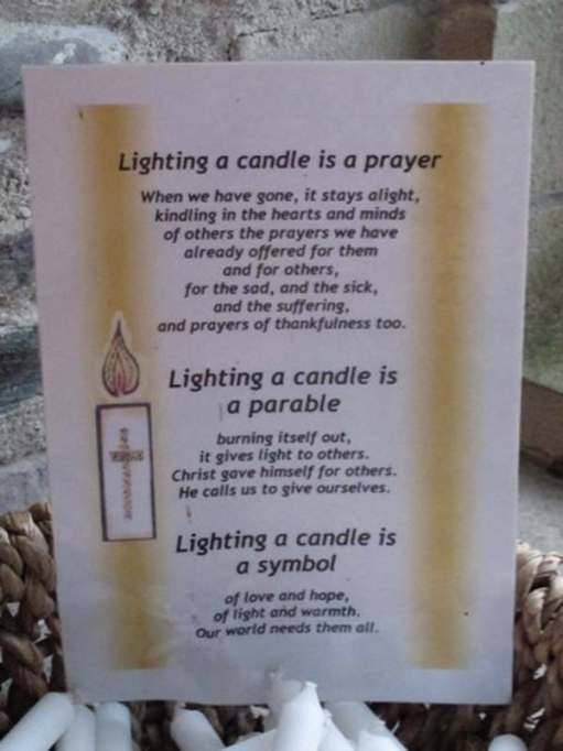 Walk from St David's: Lighting a Candle for Diddley in St Non's.