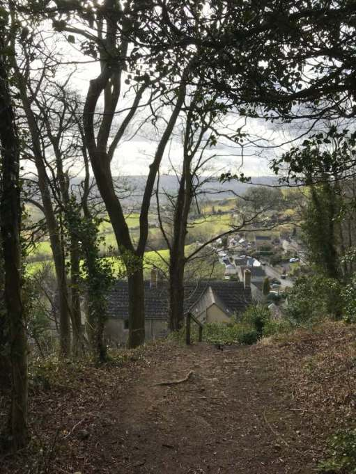 Cotswold Reverie: Village view from the hill.