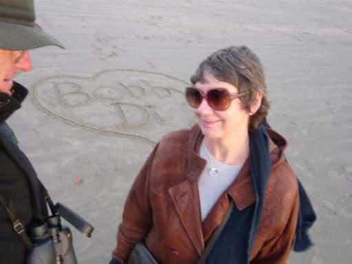Tick tock. Love letters in the sand. West Wittering.