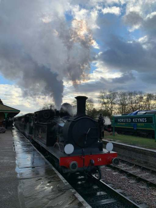 Tick tock. Ride on a steam train to there and back again. Bluebell Line.