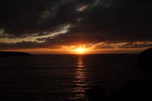 Tick tock. Watching the sun do down. Pembrokeshire.