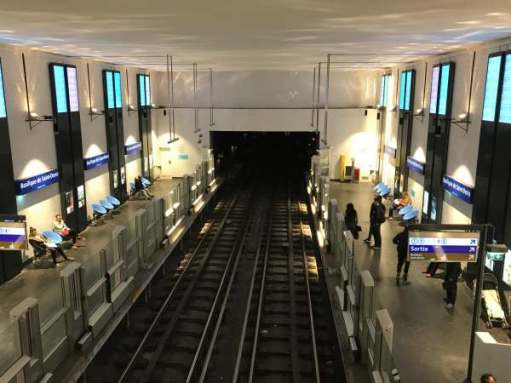 April in Paris: Metro station for Basilica of St Denis.