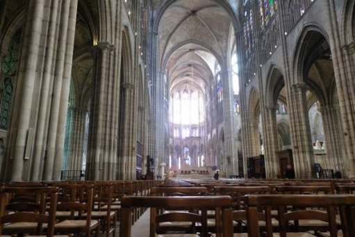 April in Paris: Nave of the Basilica of Saint-Denis.