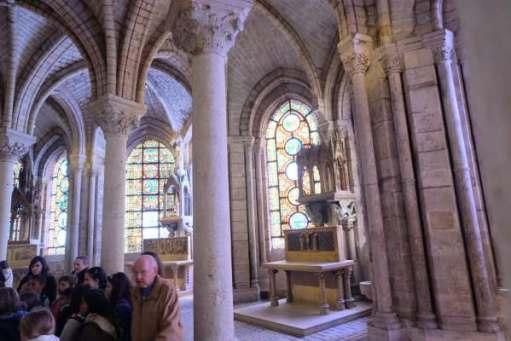 April in Paris: Part of the interior of the Basilica of Saint-Denis.