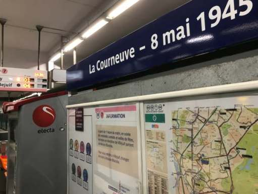 "April in PAris: ""La Courneuve - 8 mai 1945"" Station."