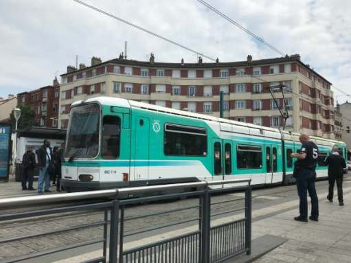 April in Paris: Trams as well at La Courneuve.