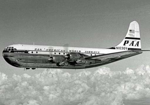 Boeing 377 Stratocruiser, which had its origins in the B29 Superfortress wartime bomber.