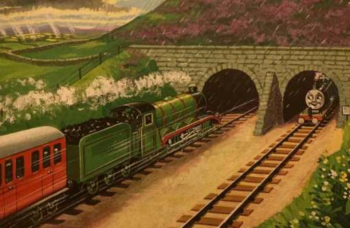 Henry approaching the tunnel.