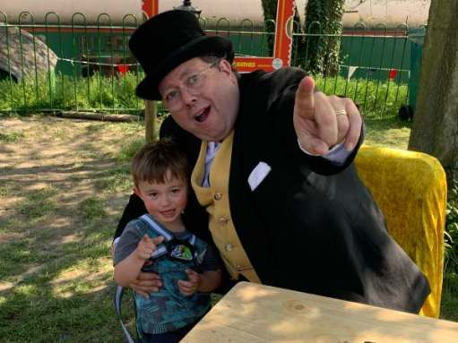 The Fat Controller overwhelms Little Jay.