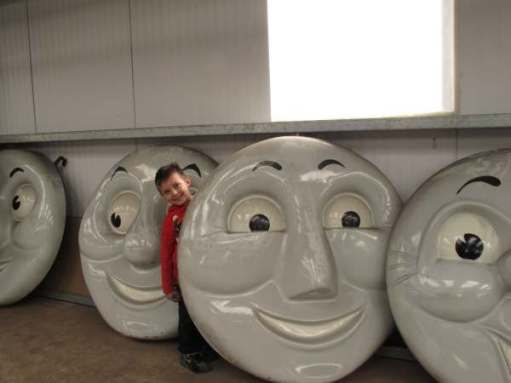 "Sonny, in 2012, with the ""faces"" in storage the rest of the year!"