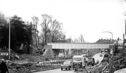 Worcester park Bridge. The start of the rebuild.