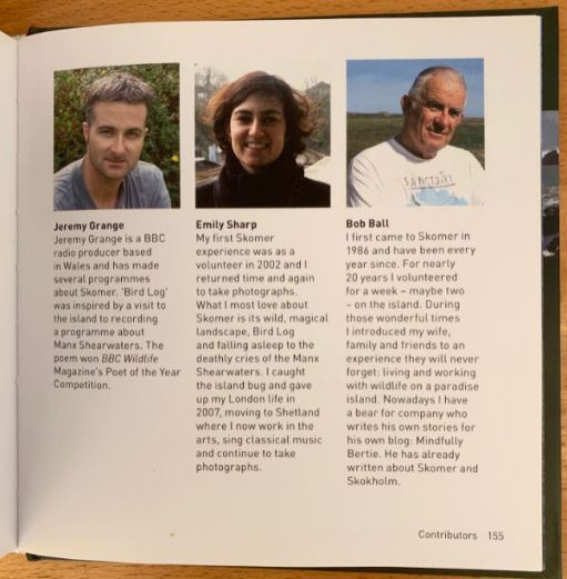 "Pictures of contributors, including Bob, who gives ""Mindfully Bertie"" a plug in his bio!"