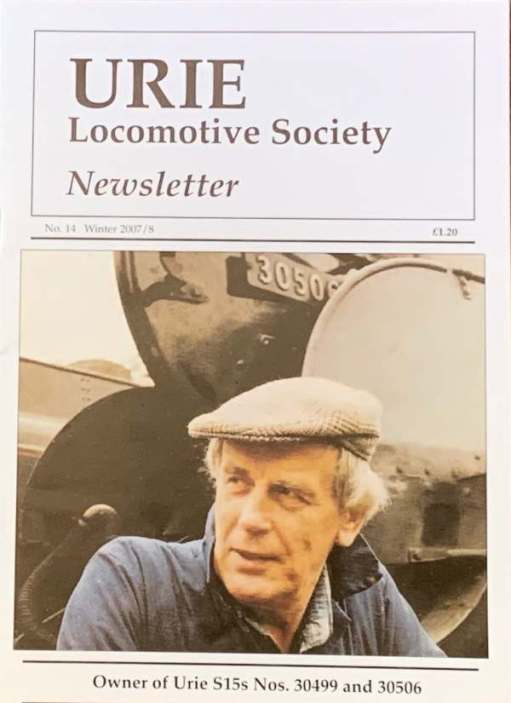 The newsletter that covered Tony' obituary. Pictured in front of 30506, his locomotive.
