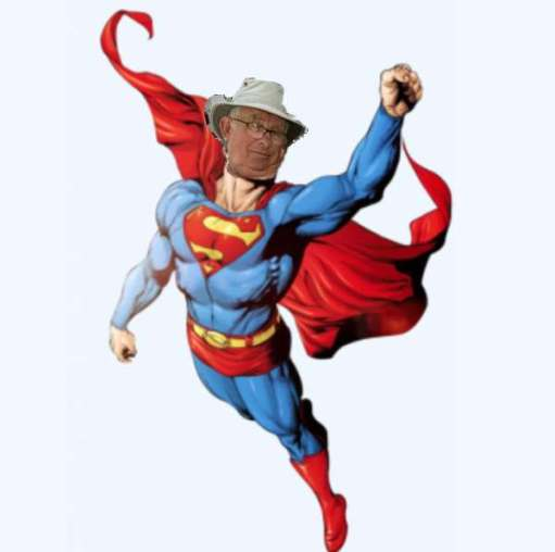 Picture of Superman - with Bobby's head super-imposed!