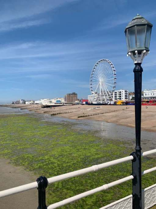 View of Worthing seafront and the Big Wheel from the Pier.