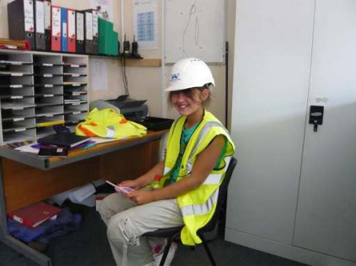 Jasmine at the Highways Agency depot.