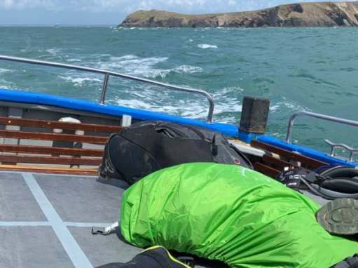 The roll on the Dale Princess crossing to Skokholm.