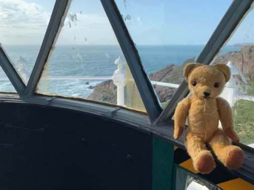 Eamonn admiring the view from Skokholm lighthouse.