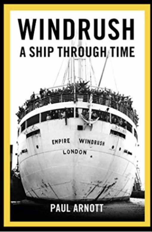 Book Cover; Windrush. A ship through time.