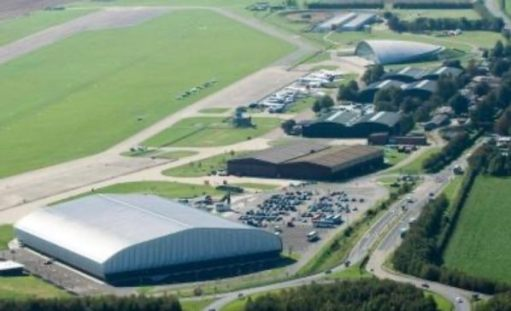 Aerial view of the Imperial War Museum, Duxford.