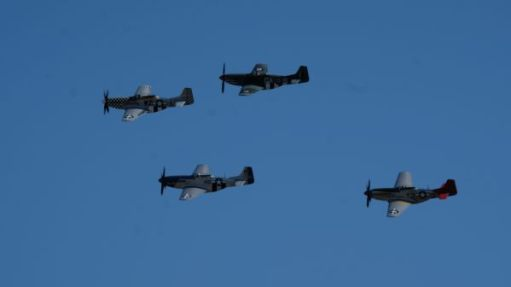 Mustangs in the air at the Duxford Airshow 2019.