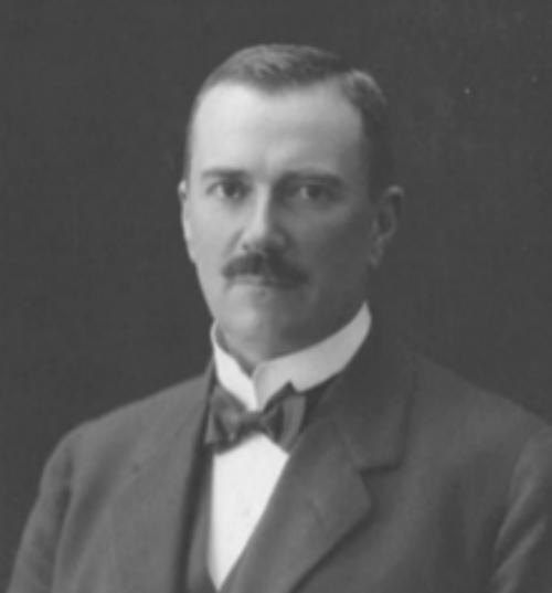 Black and White head and shoulders portrait of Erik Adolf von Willebrand.