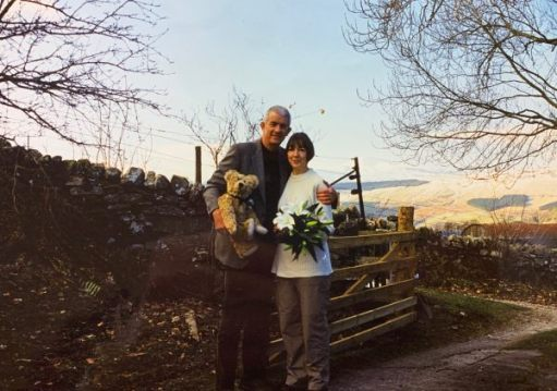 Bobby, Diddley on their wedding day with Bertie.