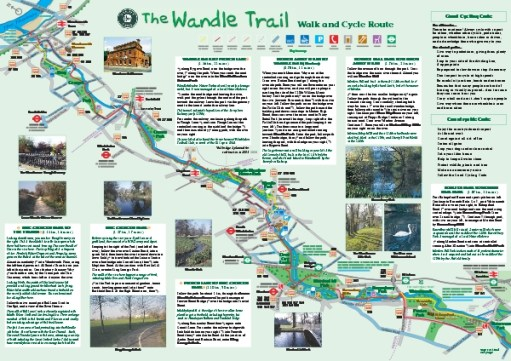 Map of the Wandle Trail.