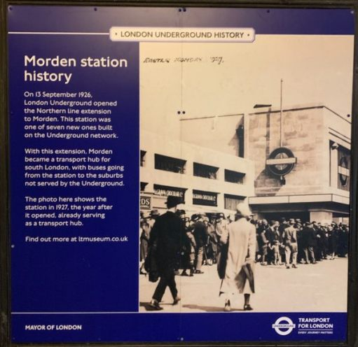 Poster celebrating the opening of Morden Station on 13 September 1926.