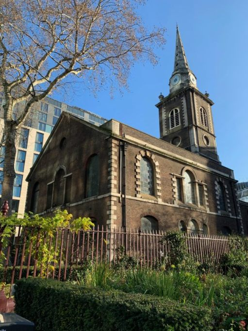 The garden of St Botolph without Aldgate.