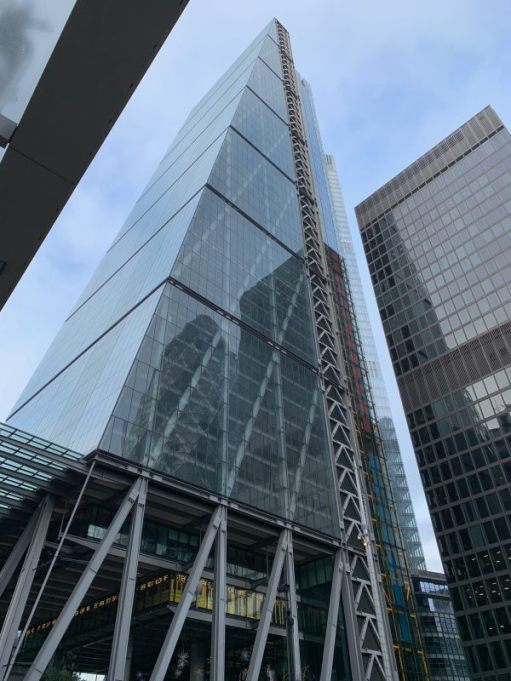 """The """"Cheese Grater"""", Aldgate."""