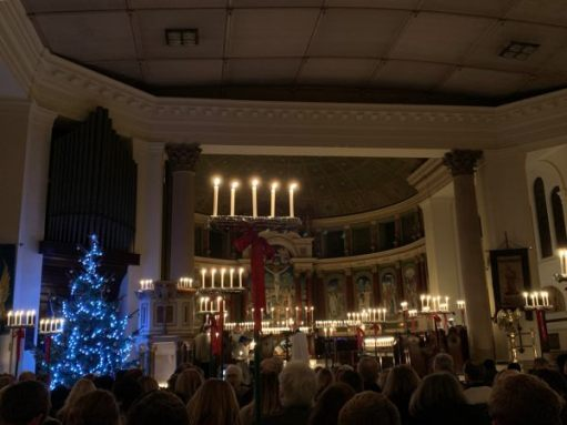 Candlelit Carol Service in St Mary & St John, Balham.