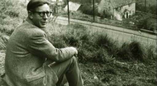 Laurie Lee in Slad, perhaps at the time he wrote Cider with Rosie, first published in 1959.