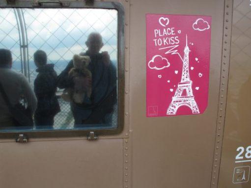 Bobby holding Bertie in Paris.