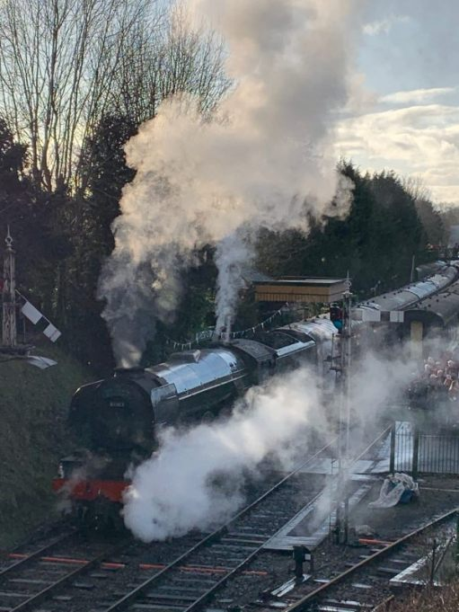 Alresford. Flying Scotsman.