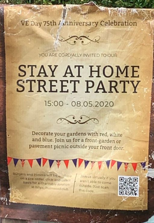 Stay at Home Street Party poster.