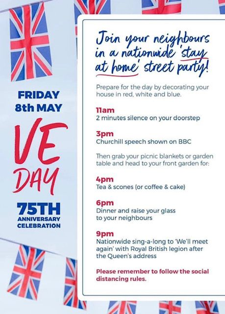 Programme for VE Day celebrations.