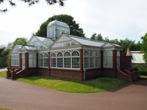 The Grade II Listed Conservatory in West Park, Wolverhampton.
