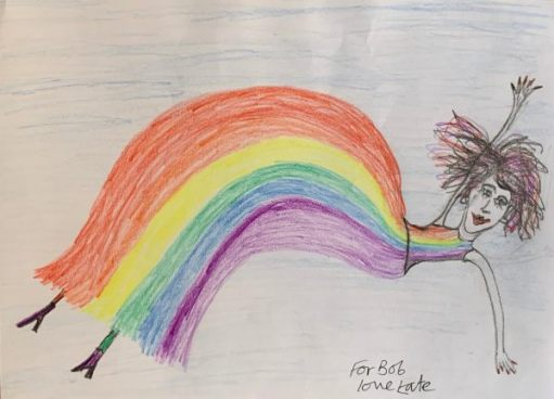 Rainbows for the NHS. Not all children, but a special one from Kate.