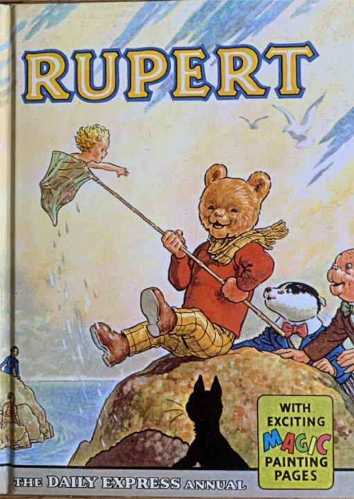 """Front cover of a Daily Express """"Rupert Bear"""" Annual."""