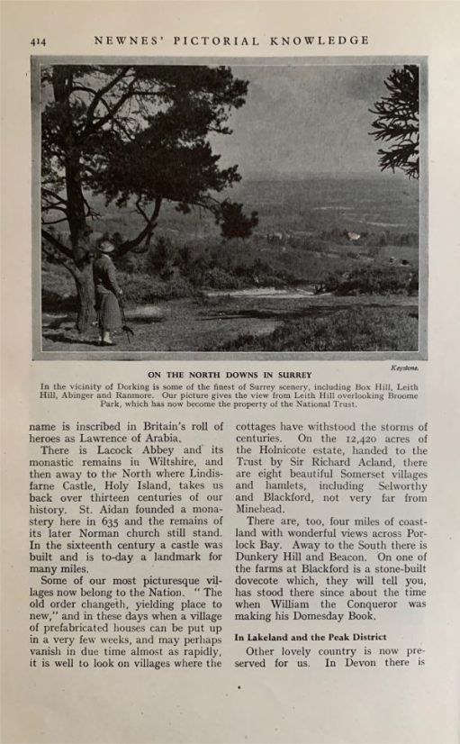 Look up 'Dorking' in the index and you will find in Volume 3 a picture near Dorking on Leith Hill. An idealistic view of a bygone age.