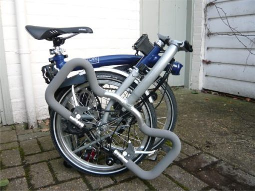 Brand new. December 2008. Most Bromptons are bespoke. He chose blue and silver.